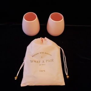 PINK SILICONE WINE GLASSES SET OF 2
